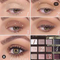 Soft Eye Makeup, Korean Eye Makeup, Makeup Eye Looks, Beautiful Eye Makeup, Simple Eye Makeup, Skin Makeup, Eyeshadow Makeup, Tarte In Bloom Palette, Tartelette In Bloom Palette