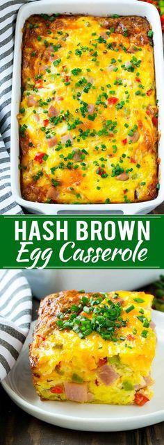 Hash Brown Egg Casserole Recipe | Breakfast Casserole with Ham | Hash Brown Casserole | Ham and Egg Casserole | Egg Casserole with Ham