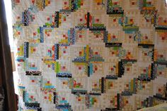 1/4 mark: A birthday quilt: log cabin quilt final step