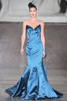 Zac Posen - great style for glam bridesmaids in a different color!