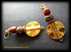 Zaida Tribal Dangle Earrings  African Jewelry by KheperaAdornments