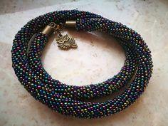Necklace by Manufaktura Leo Leather Working, Leo, Beaded Necklace, Jewelry Making, Handmade, Beaded Collar, Hand Made, Pearl Necklace, Beaded Necklaces