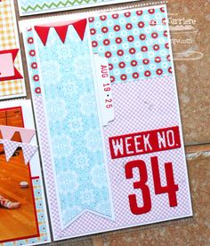 Week No. 34 Project Life card