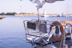 Gränna hamn en augustimorgon