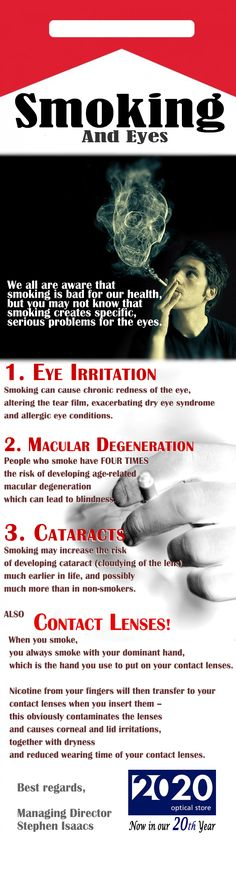 Yet another reason to stop smoking - prevent vision loss!