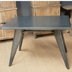 M-88425-120 Mesa de acero (120x76x120) Dining Bench, Furniture, Home Decor, Steel Table, Dining Room Tables, Interiors, Decoration Home, Table Bench, Room Decor