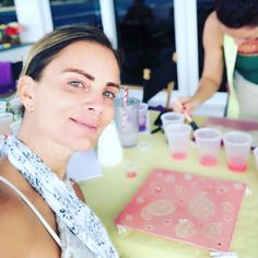 Silk painting aboard with @shellyd305 and friends. #sexty @shareefmalnik || gabrielleanwar's Instagram