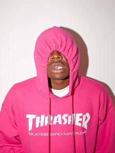 Thrasher, Logo Hoodie (Pink)