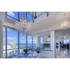 Elegant High-Rise Glass Penthouse featuring polyvore