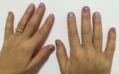 Gris+violeta puntos+rayas