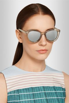 Le Specs|Peach Pit cat-eye acetate sunglasses