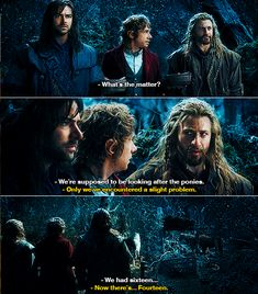 ...Fili...Kili....What were you guys doing?! How did you not notice the mountain trolls stealing your ponies!? How do you miss that?
