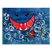 Fairychamber: Products on Zazzle Watercolor Paintings Nature, Watercolor Animals, Sea Monsters, Puppy Eyes, Pinocchio, Animal Drawings, Original Artwork, Fairy Tales, Whimsical