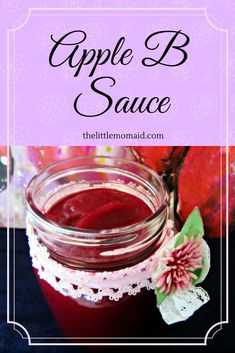 Apple B Sauce  is apple sauce with a healthy twist -- BEETS.  This ruby red snack has is nutritious and made with two simple ingredients: Apples and Beets.