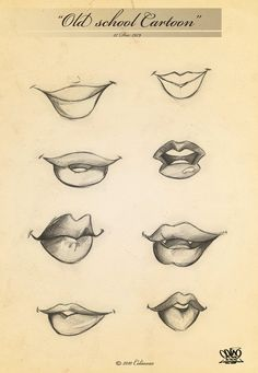 old style cartoon mouths