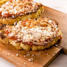Chicken Parm A skinny version of chicken parm has arrived.A skinny version of chicken parm has arrived. Tasty Vegetarian Recipes, Veggie Recipes, Cooking Recipes, Healthy Recipes, Vegetarian Fajitas, Easy Recipes, Rice Recipes, Vegetable Lasagna Recipes, Cooking Icon