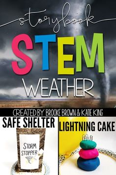 Weather STEM Challenges, Language Arts Components, and Science Activities to match favorite picture books | Elementary STEM Activities