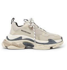 quality design e9d65 f4d09 Balenciaga - Triple S Mesh, Nubuck and Leather Sneakers