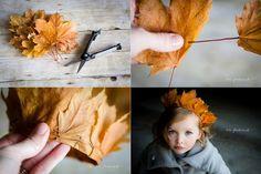 DIY leaf crown / Krone aus Herbst Blättern