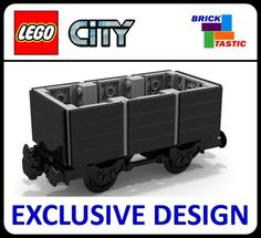 NEW-Lego-CITY-train-short-plank-wagon-7-wide-INSTRUCTIONS-ONLY