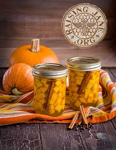 Pumpkin Refrigerator Pickles:  Prep Time: 30 Minutes, Plus 1 Hour Steeping Time Cook Time: 15 Minutes  Makes: 2 Pints