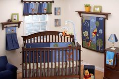 Winnie the Pooh! I'm in love!!! If we ever have a little boy this will be his room! :)
