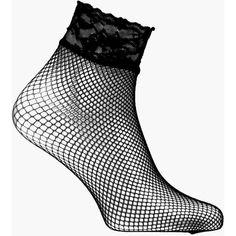 Boohoo Orla Lace Trim Fishnet Ankle Socks | Boohoo (€4,60) ❤ liked on Polyvore featuring intimates, hosiery, socks, black, tennis socks, ankle socks, short socks, fishnet hosiery and fishnet ankle socks