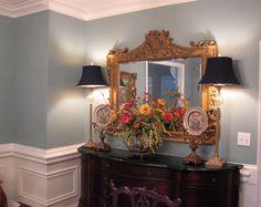Elegant   Benjamin Moore Stratton Blue Dining Room