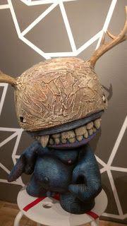 This Is a Mega Munny I sculpted on for the Oakland Museum of California. ~Sahdoe Delgado