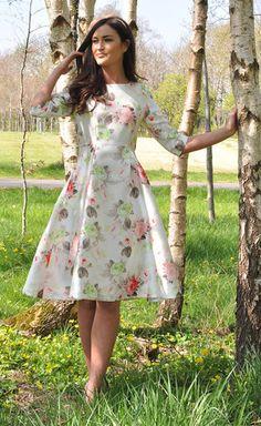 Beth Floral Print Dress - Lady VB