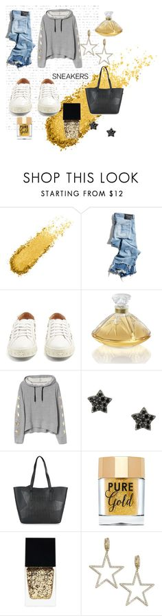 """""""Shooting Star"""" by ellensanders on Polyvore featuring R13, Aquazzura, Lalique, Astley Clarke, Kendall + Kylie, Too Faced Cosmetics, Witchery and Kate Spade"""