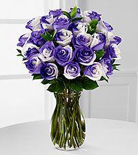 lilac rainbow rose bouquet