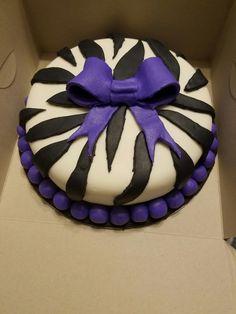 Purple Striped Cake Striped Cake, Fondant Cakes, Purple, Viola