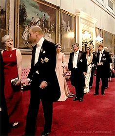 Charlotte Elizabeth Diana — The Duchess of Cambridge walks with HE Mr. Carlos...