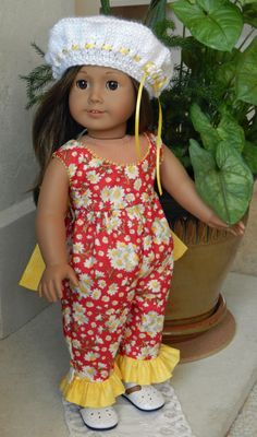 Sale Daisy Romper for American Girl Doll by SheriLynnDollDesign, $25.00