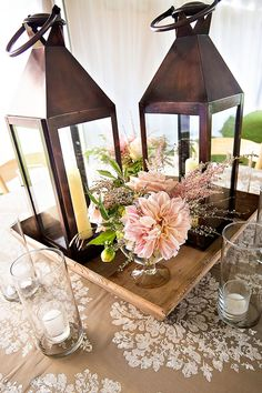 Love this simple centerpiece!