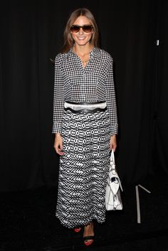 11. BLACK & WHITE IS THE CHICEST COLOR COMBINATION EVER. New York Mercedes-Benz Fashion Week Spring 2014   - TownandCountryMag.com