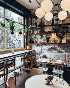 Lovely Cozy Cafe Interior Ideas Restaurant Design 🏡 Coffee Shop Design Ideas 🎄 DecorIdeasAccentsAccessories Cafe Shop Design, Coffee Shop Interior Design, Restaurant Interior Design, Bakery Shop Interior, Small Cafe Design, Restaurant Interiors, Restaurant Furniture, Cozy Cafe Interior, Kitchen Interior