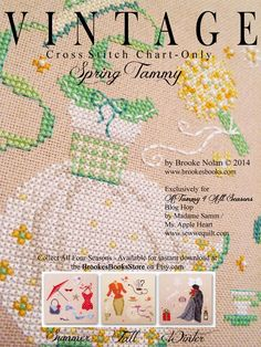 NEW Vintage Cross Stitch patterns by Brooke Nolan... easy, seasonal and ohhhh delightful .