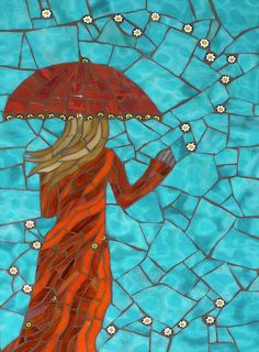 This Magic Moment Glass Art by Christine Brallier Mosaic Tile Art, Mosaic Artwork, Mosaic Crafts, Mosaic Projects, Mosaic Glass, Mosaic Designs, Mosaic Patterns, This Magic Moment, Mosaic Portrait
