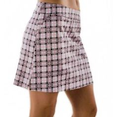 Haute Shot Golf Skort - Riding in Carts with Boys. Made in the USA. Golf Skirts, Mini Skirts, Golf Club Reviews, Pga Tour Golf, All American Girl, Golf Outfit, Tartan Plaid, Ladies Golf, Golf Tips