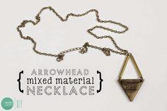 DIY Arrowhead Mixed Material Necklace | 15 Awesome Dremel Projects | Easy DIY Ideas to Make with Dremel, check it out at http://pioneersettler.com/dremel-projects/