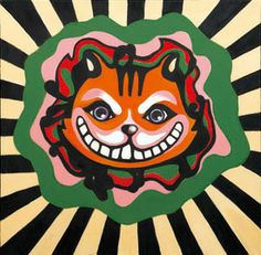 Cheshire cat form Alice's Adventures in Wonderland, oil on canvas,  50.5×50.5, 2013