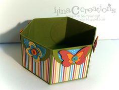 Hexagonal Petal Card Die Box