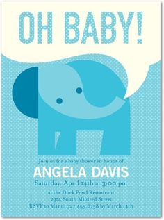 Once your dream registry has been put together and the celebration planning is in full swing, let Tiny Prints help you design the perfect baby shower invitation for the big bash. Holiday Messages, Elephant Theme, Tiny Prints, Unique Invitations, Baby Shower Invitations For Boys, Cards For Friends, Holiday Photo Cards, Custom Cards, Birthday Party Themes