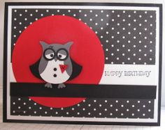 In My Craft Room: Harry Potter Owl Punch Art Card