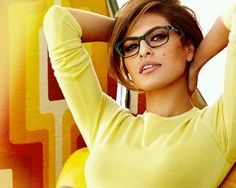 Eva mendez with my favorite color green..and she's freaken gorgeous so yea.
