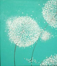 Original abstract art duo (diptych) of dandelions titled Good times, patiently d. - Painting Ideas On Canvas Dandelion Art, Art Diy, Painting Inspiration, Portrait Inspiration, Painting & Drawing, Clock Painting, Modern Art, Contemporary Artists, Art Drawings
