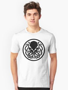 Buy 'Cthulu Logo' by rhaeyndaze as a T-Shirt, Classic T-Shirt, Tri-blend T-Shirt, Lightweight Hoodie, Women's Fitted Scoop T-Shirt, Women's Fitted V-Neck T-Shirt, Women's Relaxed Fit T-Shirt, Graphic T-Shirt, Women's Chiffon Top, Contrast ...