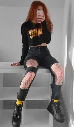 Grunge Style Outfits, Aesthetic Grunge Outfit, Mode Outfits, Retro Outfits, Cute Casual Outfits, Aesthetic Clothes, Hipster Outfits, Grunge Clothes, Hipster Clothing